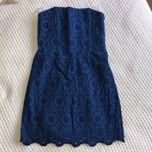 Alice & Trixie Eyelet Strapless Dress - Medium